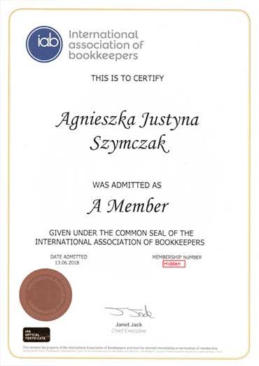 IAB Member Certificate