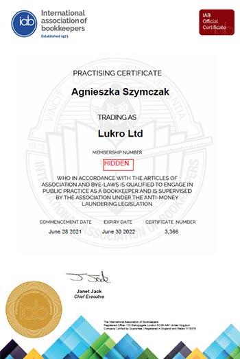 IAB Practising Certificate 2022